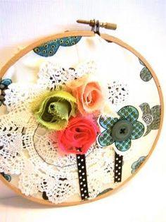 Spring Flower Hoop Art