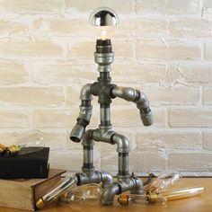Repurposed Plumber Pipe Standing Lamp lamp shades