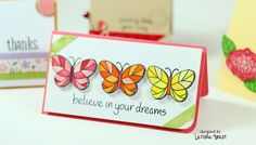 Lawn Fawn: 04/21/12: Flutter By example love the colored butterflies LawnFawn-butterflies-latishay by LFDT13, via Flickr