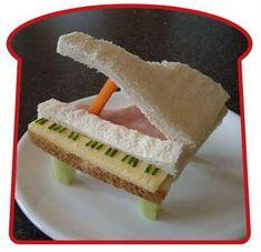 Piano Sandwich!!  CUTE lunch idea