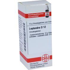 LEPTANDRA D 12 Globuli:   Packungsinhalt: 10 g Globuli PZN: 07457808 Hersteller: DHU-Arzneimittel GmbH & Co. KG Preis: 5,50 EUR inkl. 19…