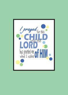 Gift for Child Baptism Birth Inspirational Print by MDesignCompany.  Buy Today:  etsy.com/shop/MDesignCompany