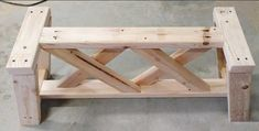 Double X Bench Plans | Woodworking Session