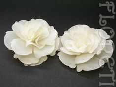 Small Ivory Magnolia Silk Flower Couture Bridal Wedding Shoe Clips, 2 | Floreti - Wedding on ArtFire. weddings, accessories, hair, clip, head piece, veil, bridal, ivory, sheer, chiffon, magnolia, romantic, small, summer, $41.90