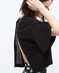 Image 5 of CROSSED BACK CROP TOP from Zara