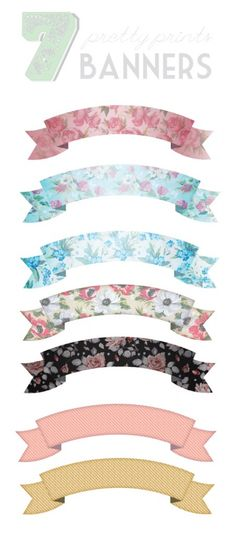 Free Floral Print Banners!