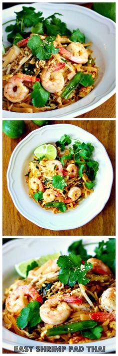 Shrimp Pad Thai because it's Wednesday and you don't wanna break a sweat! #humpwednesdaymeals #shrimpthai #thaifood