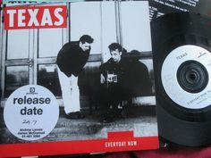 Texas with INSERT  Everyday Now Mercury TEXDJ 3 Promo UK Vinyl 7  Single 45