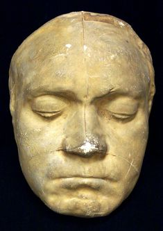 Beethoven death mask by J. Danhauser on 28 March 1827, two days after death. See Hutton, Portraits..., pp. 61-8; Moore, Talks..., pp. 172-3. (3 copies) [Boxes 3,34]
