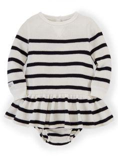 Striped Cotton Dress & Bloomer - Baby Girl Dresses & Skirts - RalphLauren.com