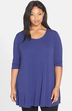 Eileen Fisher Silk Scoop Neck Tunic (Plus Size) available at #Nordstrom