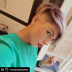 """12 Likes, 1 Comments - Andreea (@andreeani_) on Instagram: """"#Repost @romanianbarber (@get_repost) ・・・ #hairtattoo #wahlpro #scissors #sex #barber…"""""""