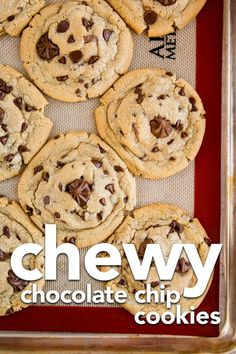 This is the best chewy chocolate chip cookie recipe I've tried! Big, chewy chocolate chip cookies! #cookies #chocolatechipcookies #cookierecipe #recipes #dessert #cookie #chocolate
