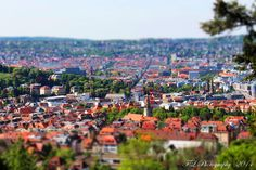Stuttgart seen with miniatur effect.