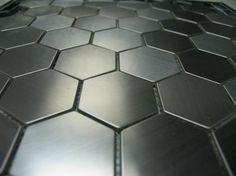 SA048-1 Stainless Steel Splashback Tiles - ExoTiles