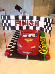Our lightning McQueen Cake