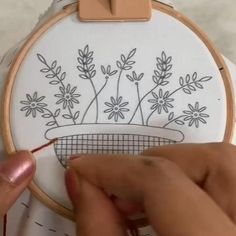 AINIA 6 Pieces Embroidery Hoop Set Bamboo Circle Cross Stitch Hoop Ring 5 inch to 10 inch for Embroidery and Cross Stitch Etsy Embroidery, Hand Embroidery Videos, Floral Embroidery Patterns, Embroidery Stitches Tutorial, Hand Embroidery Stitches, Embroidery Hoop Art, Cross Stitch Embroidery, Diy Hand Embroidery Letters, Diy Embroidery Projects