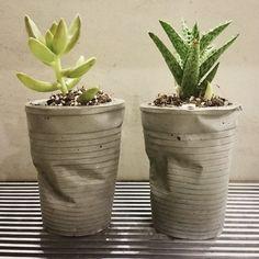 Algodão Tão Doce: Vasos de cimento criados por você mesma, essa é a diferenciação...