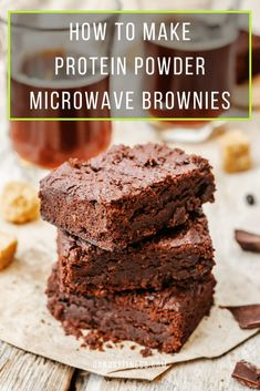 Cooking with protein powder is surprisingly easy and there are countless recipes to suit your taste. Check out the perfect protein powder microwave brownie here - QandA Fitness - #fitness #HighProtein #ProteinBrownie #brownies
