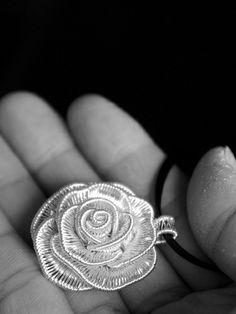 Silver Rosalie pendant