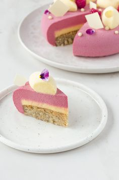 Mousse lampone, bergamotto e nocciola - Raspberry Inspiration Mousse Cake with Bergamot and Hazelnut Hazelnut Praline, Fancy Desserts, Cupcakes, Cocoa Butter, Tray Bakes, Cake Recipes, Bakery, Sweets, Cheesecake