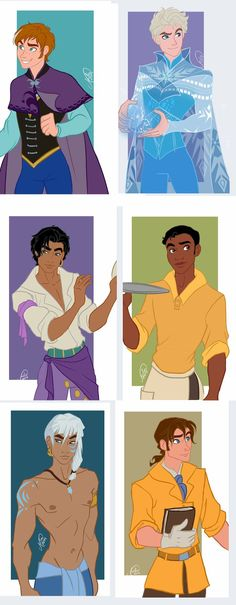 If Disney girls from Frozen, Hunchback, Princess and the Frog, Atlantis, and Tarzan were guys