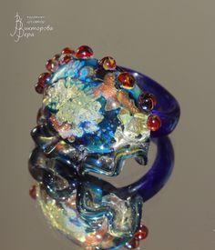 Кокотка. Стекло ручной работы от Веры Викторовой. Courtesan. Handmade glass by Vera Viktorova