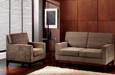 Sillón y sofá estilo Mobelrías. Elegancia y sobriedad.  #diseño #hogar #casa #decoración #salón #Galicia #fashion #cool #sillón #sofá