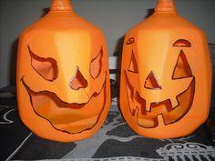 milk jug pumpkins by ~sapphirestarflake on deviantART