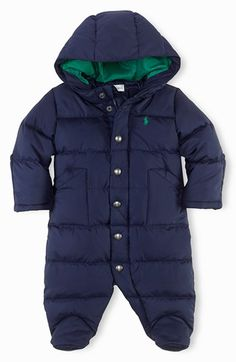 Ralph Lauren Down Bunting (Baby) available at #Nordstrom PERFECT for the Colorado Winter ahead!