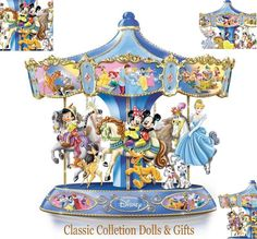 """Now this musical carousel brings their magic, merriment and heart come aroundonce again for us to enjoy in the 'Wonderful World Of Disney' Musical Carousel. """"THE WONDERFUL WORLD OF DISNEY"""" MUSICAL CAROUSEL.   eBay!"""