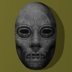 Harry Potter Papercraft: Death Eater Mask #5 | Tektonten Papercraft