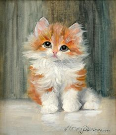 Vintage paintings perfect for the internet, because KITTENS! [12 pictures]