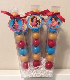 Princess Elena of Avalor Birthday Party gum ball favors
