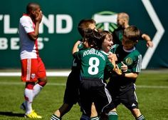 Well done, Portland. Gotta love this. Now back to hating you. Portland Timbers make an 8-year-old cancer patient's wish come true and play a scrimmage against his youth team in front of 3,000+ fans! #timberswish #atticus