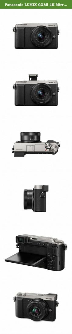 Panasonic LUMIX GX85 4K Mirrorless Interchangeable Lens Camera Kit, 12-32mm Lens, 16 Megapixels, Dual Image Stabilization, Electronic Viewfinder, WiFi - Silver. For today's interchangeable lens camera enthusiasts — or anyone looking for a lighter, newer more intelligent alternative to bulky DSLRs — Panasonic LUMIX Mirrorless Micro Four Thirds system cameras deliver impressive, no-compromise performance. Nearly half the size of most DSLRs, the DMC-GX85 delivers impressive large sensor...
