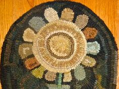Hand Hooked Rugs :: Sunflower Rug :: Hooked Rugs