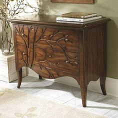 Hammary Hidden Treasures 2 Drawer Bachelor's Chest with Tree Carved Fronts