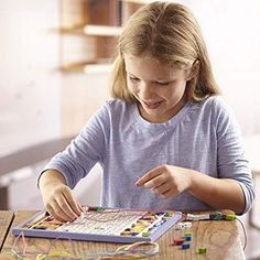 Melissa & Doug Alphabet Stringing Beads jewellery making set is an ideal creative and educational gift for younger children. Alphabet Beads, Letter Beads, Wooden Alphabet, Wooden Letters, Kite Shop, Puzzles For Toddlers, Best Gifts For Her, Bead Kits, Melissa & Doug
