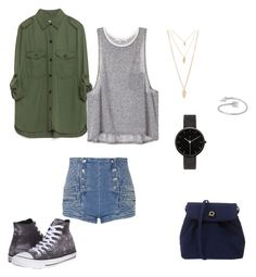 """""""shool look"""" by angie-9600 on Polyvore featuring Pierre Balmain, Zara, Converse, I Love Ugly i Forever 21"""