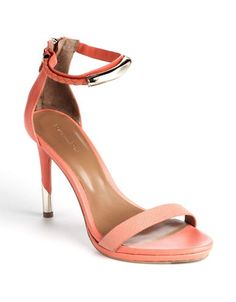 Rachel Roy Parker Leather Sandals ORANGE