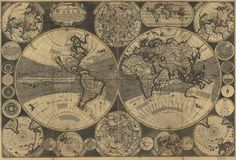 A new and correct map of the world : laid down according to the newest observations
