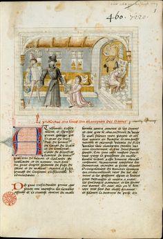 Martin le Franc présente son oeuvre à Philippe le Bon.  Le Champion des dames  Paris, BNF, Mss, fr. 841, f. 1