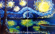 Date Nigt: Starry Night at the Lake - St. Petersburg, FL Painting Class - Painting with a Twist