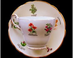 Royal Darwood vintage tea duo including cup and saucer in well sought-after… China Cups And Saucers, Bone China Tea Cups, Tea Cup Saucer, Vintage Tea, Etsy Handmade, Tea Party, Pottery, Tableware, Teacups