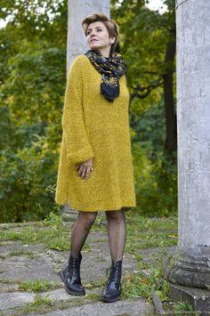 Knitwear Fashion, Knit Fashion, Easy Knitting Patterns, Knitting Designs, Crochet Baby Shoes, Crochet Clothes, Over 60 Fashion, Oversized Dress, Pinterest Fashion