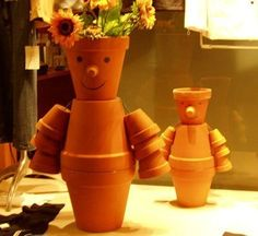 This is a guide about making flower pot people. Terra cotta pots can be used to make cute flower pot people for your garden.