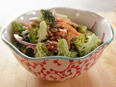 Broccoli Salad (Hay Day) - The Pioneer Woman, Ree Drummond on the Food Network. Ree Drummond, The Pioneer Woman, Pioneer Woman Recipes, Pioneer Women, Broccoli Salad Recipe Pioneer Woman, Brocolli Salad, Slow Cooked Ribs, Food Network Recipes, Cooking Recipes