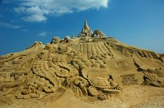 The Tallest Sand Sculpture - Set Guinness Record    Set the record at 37 feet 9 inches - Neptune Festival - Sept 28, 2006 - Virginia Beach