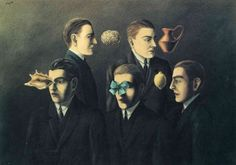 René Magritte - The Familiar Objects, Canvas Art Print by YCC, Size 24x36, Non-Canvas Poster Print